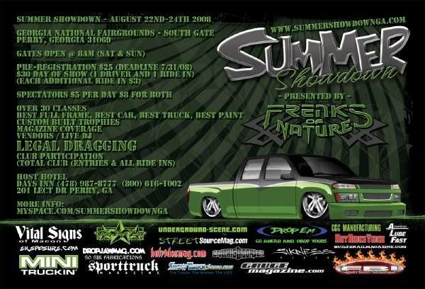 Summer Showdown '08 Flier