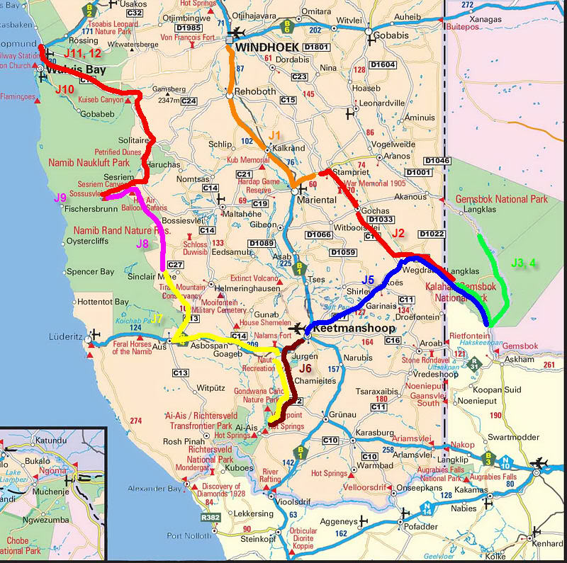 Aventures en Namibie Partie 1: De Windhoek à Sossusvlei Grande-carte-namibiecircuit-1