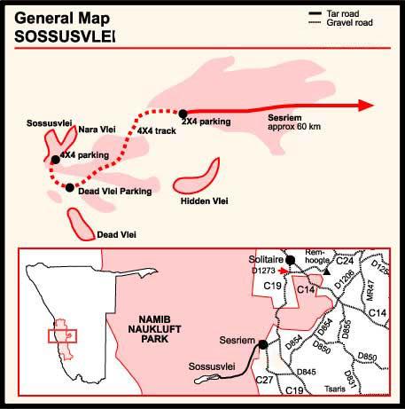 Aventures en Namibie Partie 1: De Windhoek à Sossusvlei Sossusvlei-map