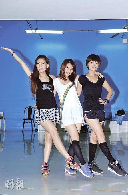 s.h.e dance rehearsal for the upcoming concerts in Hong Kong Ellaone6