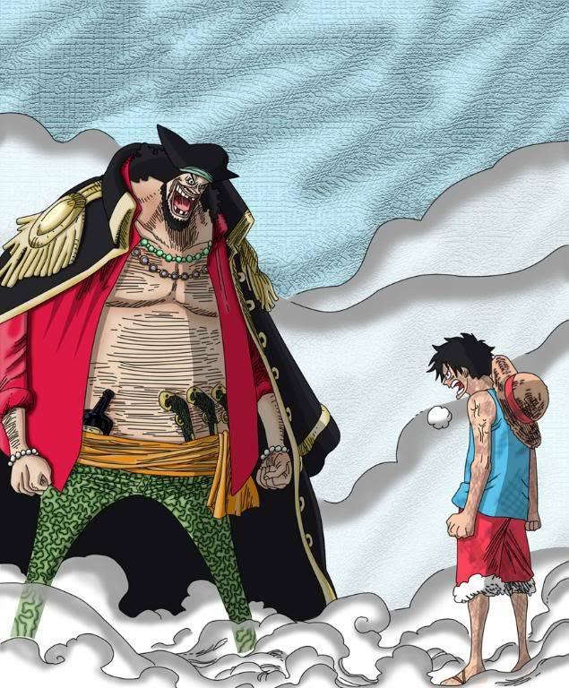 El juego de las imagenes - Página 2 One_Piece_Luffy_vs_Barbe_noire_by_G