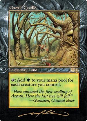 MTG Cards - Altered Art Gaeascradle_bnwborders