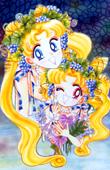 Titanium Graphics by TS Sailor Cronus Usagi-Chibi-Usa-Grapes