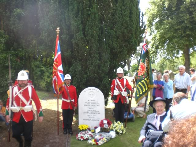 Rededication service for Pte. James Marshall. CIMG3030