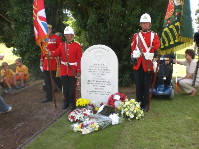 Rededication service for Pte. James Marshall. CIMG3033
