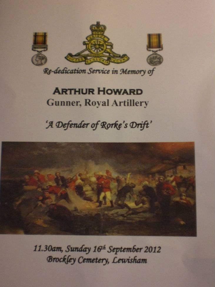 Re-dedication to Arthur Howard (Gunner Royal Artillery) 16th Sep 2012 79936657