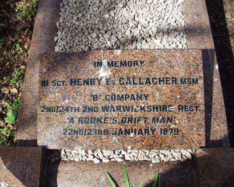 A Rorkes Drift Man ( Henry Edward Gallagher) Gallagher_stone