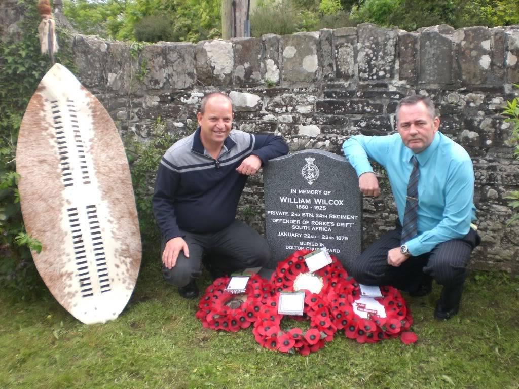 A Rededication Ceremony In Memory of Rorke's Drift Defender William Wilcox. 8th May 2011 Dolton Devon. 14ec342a