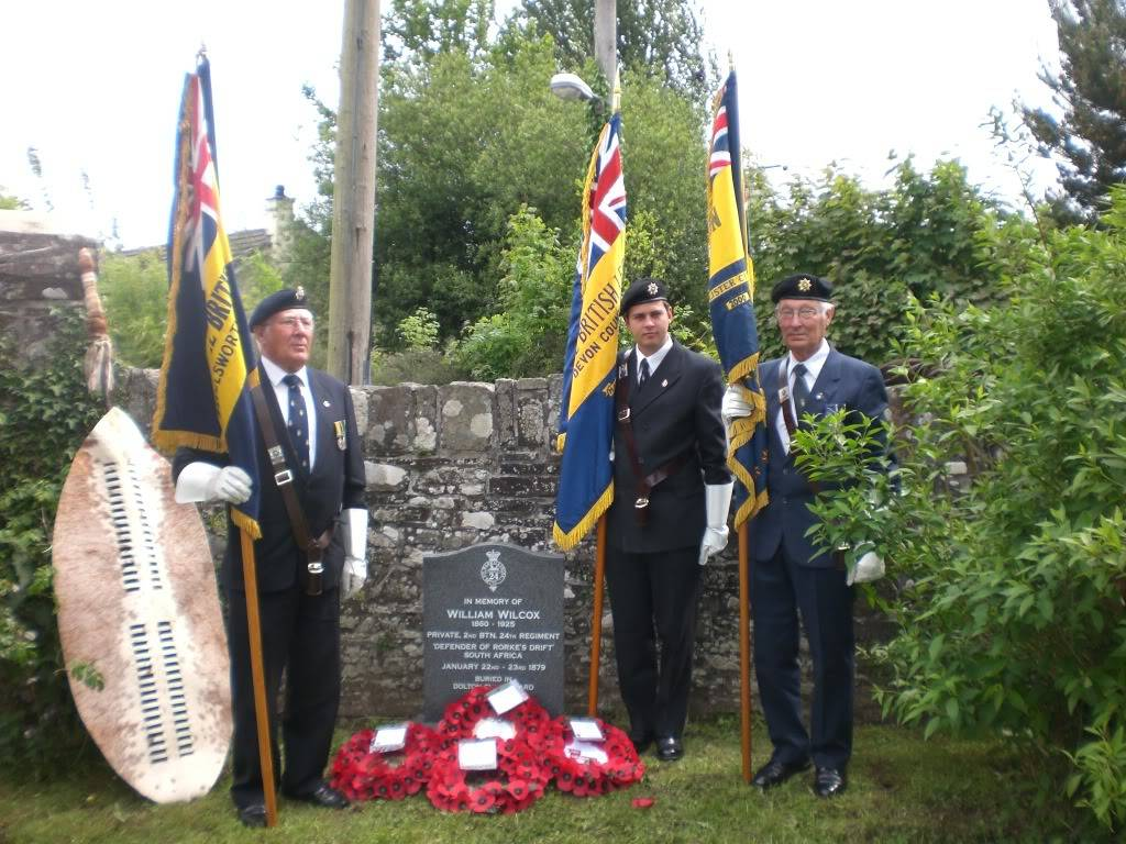 A Rededication Ceremony In Memory of Rorke's Drift Defender William Wilcox. 8th May 2011 Dolton Devon. 38949de6