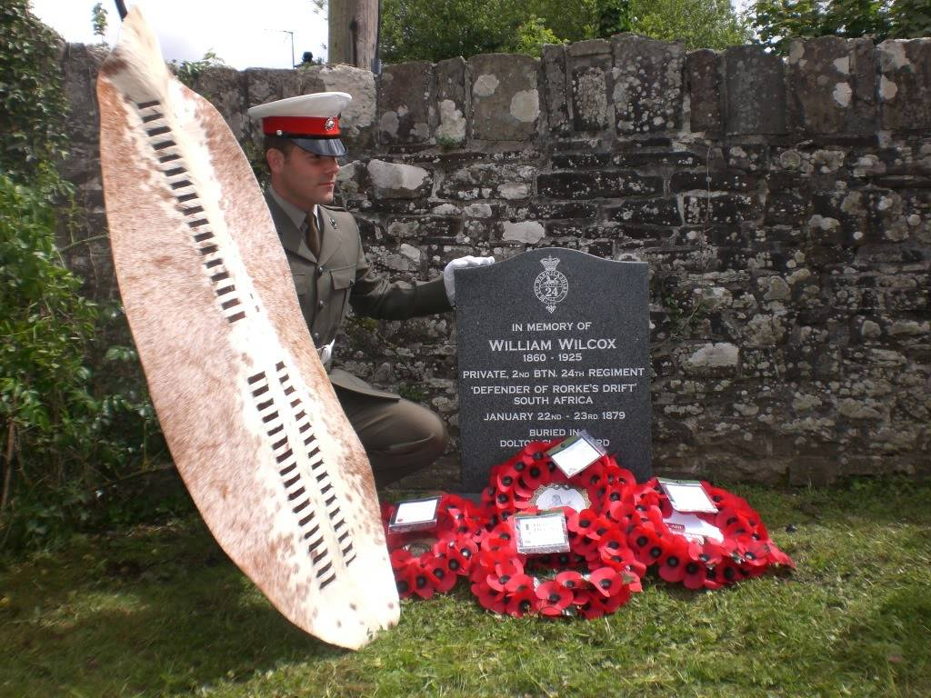A Rededication Ceremony In Memory of Rorke's Drift Defender William Wilcox. 8th May 2011 Dolton Devon. A169bbe3