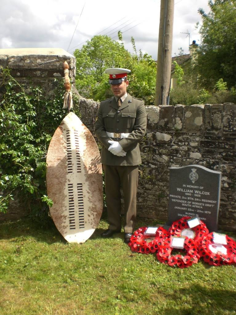 A Rededication Ceremony In Memory of Rorke's Drift Defender William Wilcox. 8th May 2011 Dolton Devon. B4209a00