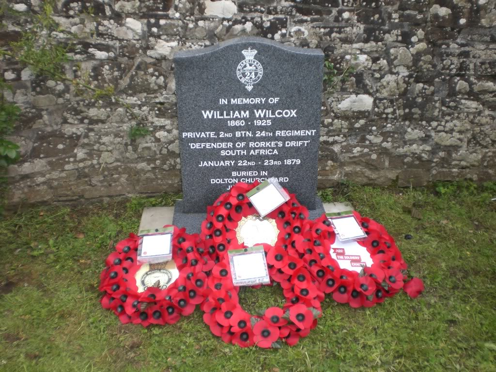 A Rededication Ceremony In Memory of Rorke's Drift Defender William Wilcox. 8th May 2011 Dolton Devon. F8e9c84f