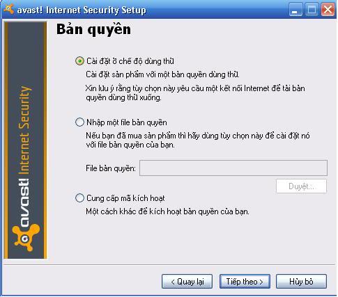 Avast! Internet Security 5.0.667 Bản quyền đến năm 2025  3-1