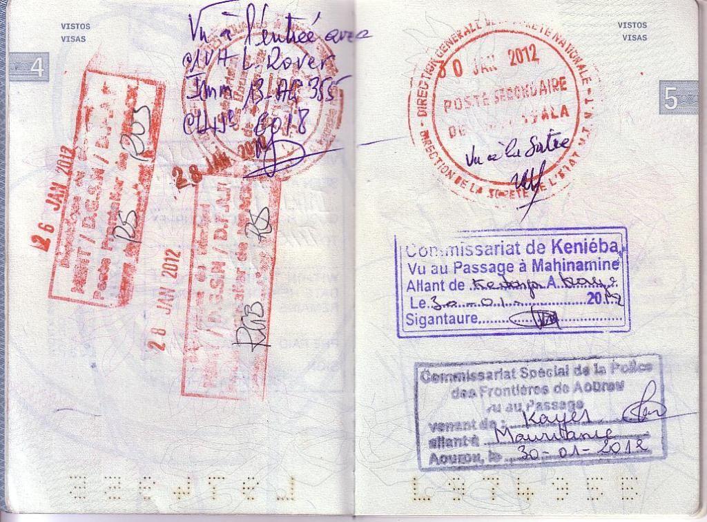 Memórias de África Central 2012 - 19Janeiro-02Fevereiro 01-PASSAPORTE-01-CARIMBOS-6