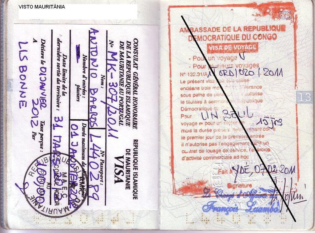 Memórias de África Central 2012 - 19Janeiro-02Fevereiro 01-PASSAPORTE-CARIMBOS-1