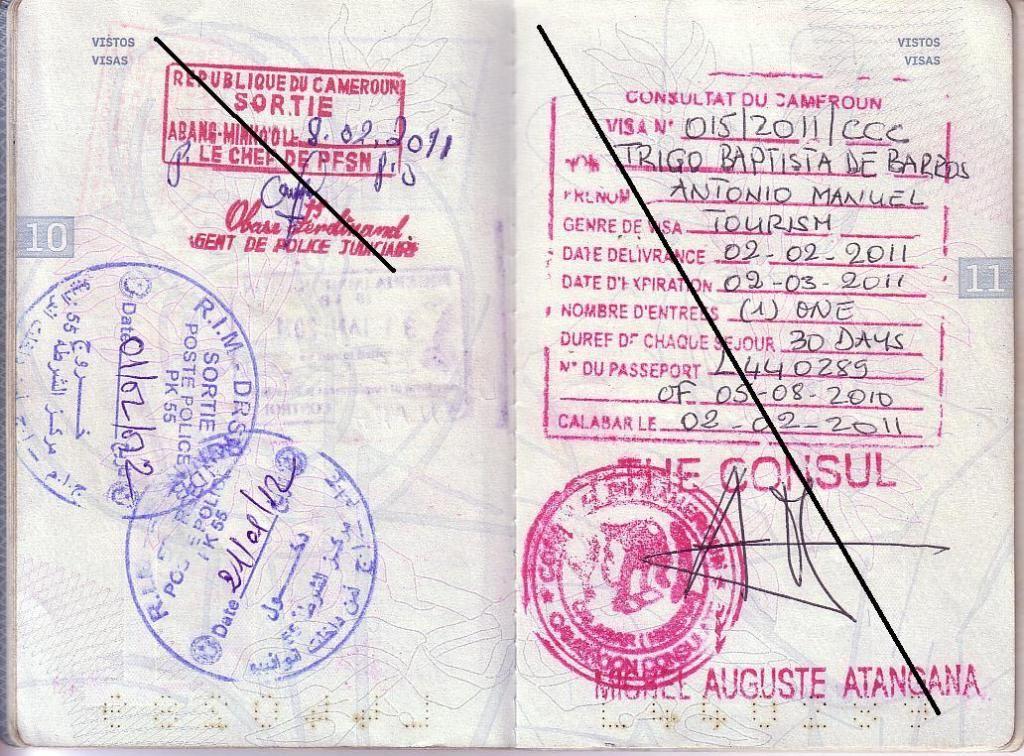 Memórias de África Central 2012 - 19Janeiro-02Fevereiro 01-PASSAPORTE-CARIMBOS-2