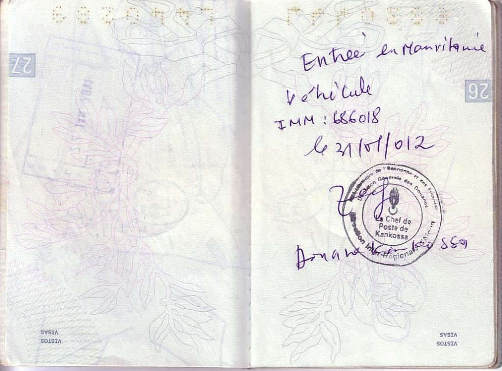 Memórias de África Central 2012 - 19Janeiro-02Fevereiro 01-PASSAPORTE-CARIMBOS-3