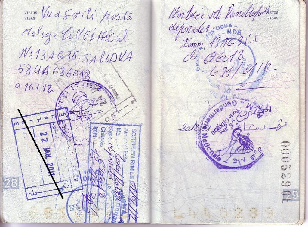 Memórias de África Central 2012 - 19Janeiro-02Fevereiro 01-PASSAPORTE-CARIMBOS-4