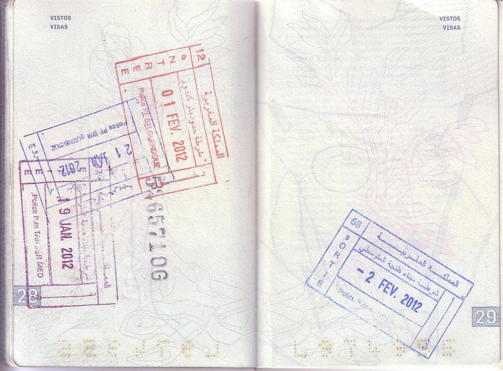 Memórias de África Central 2012 - 19Janeiro-02Fevereiro 01-PASSAPORTE-CARIMBOS-8