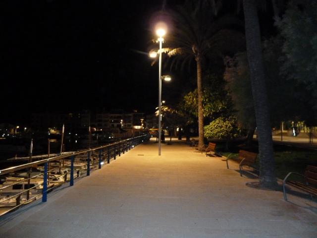 Cala Bona Town overview CBmarinanight
