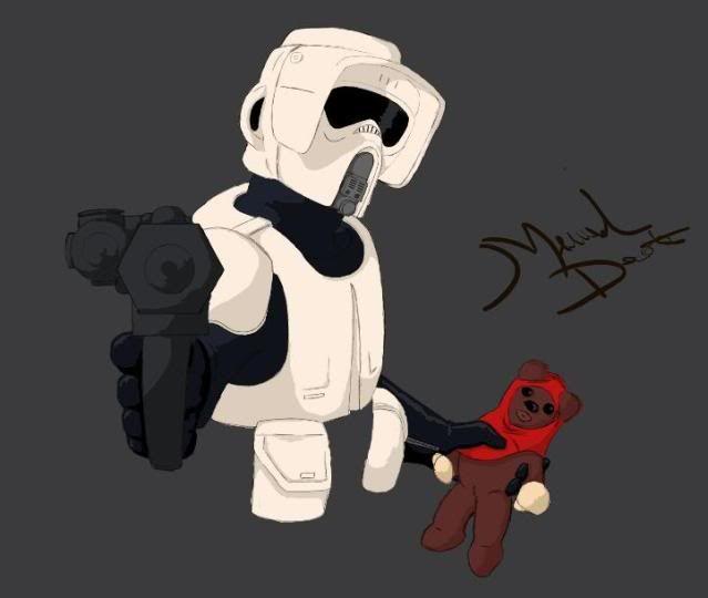 styalized star wars drawings ^^ Scouttroopersketchgrey