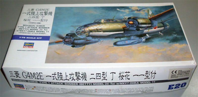 "Presente inestimável - Mitsubishi G4M2E ""Betty"" - Hasegawa 1/72 Hasegawa_G4M2E_Betty_01"
