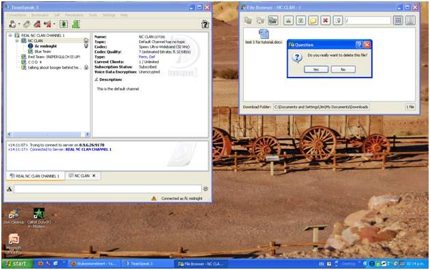 Teamspeak File Transfers DeleteFiles