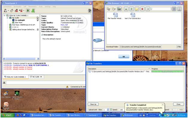 Teamspeak File Transfers TransferCompletedcopy