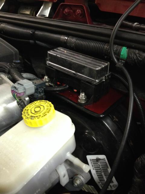 Custom Jeep Jk overhead console. 1Relaymountedandclean_zps9e189b14