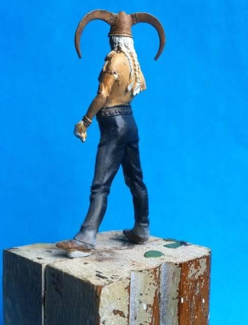 Atelier peinture à l'huile : chef celte cornu IMG_0238