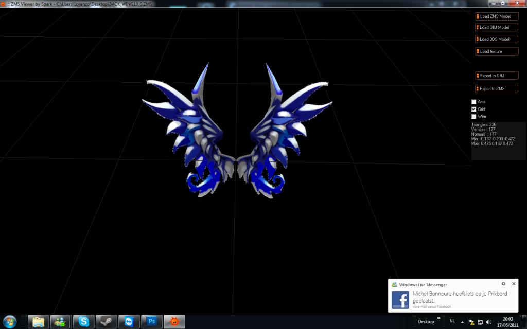 wing recolors Metalicblueseraphwing