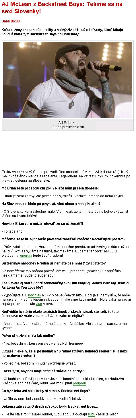 New Slovenian Interview AJMcLeanzBackstreetBoys-Temesanasex