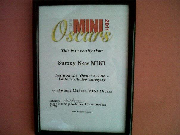 Modern MINI Oscars - Best Owners Club Announcement - Page 2 SnMcertificate
