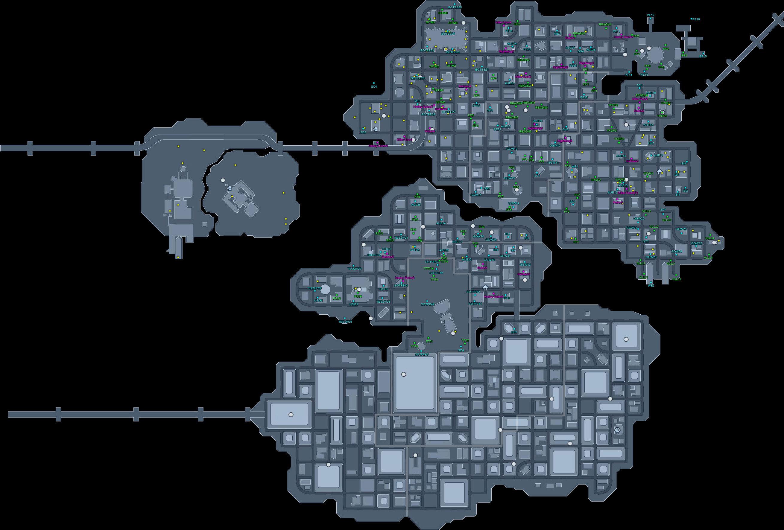 Mapas de Metropolis y Gotham GothamMAP126