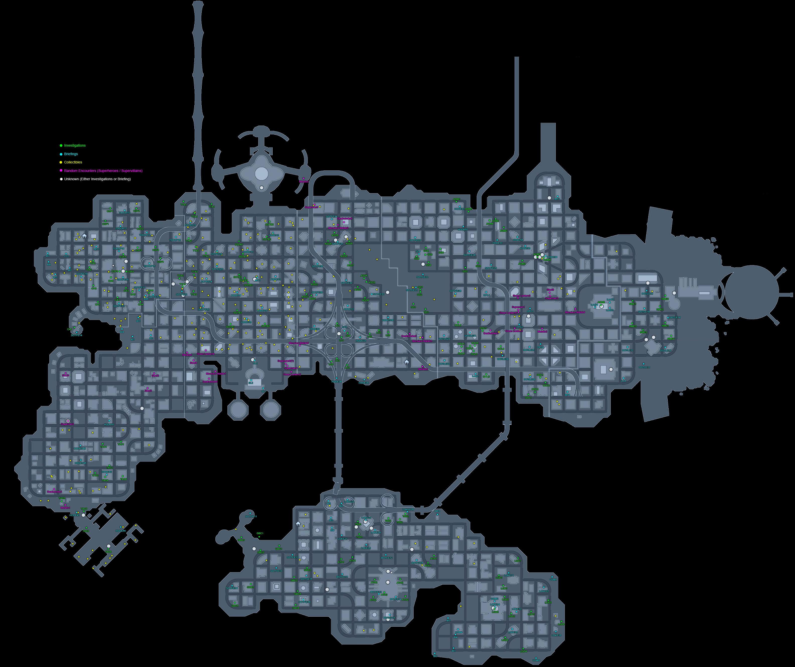 Mapas de Metropolis y Gotham MetropolisMAP126