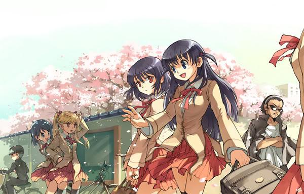 صوور أنمي مدرسيه School_Anime_Girls