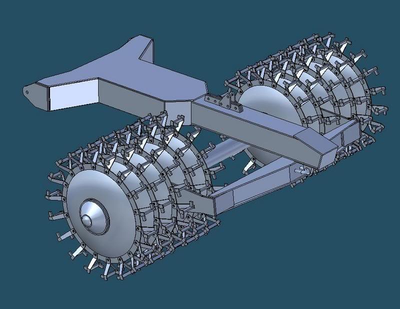kit déminage PT34 pour char russes  MINEROLLER
