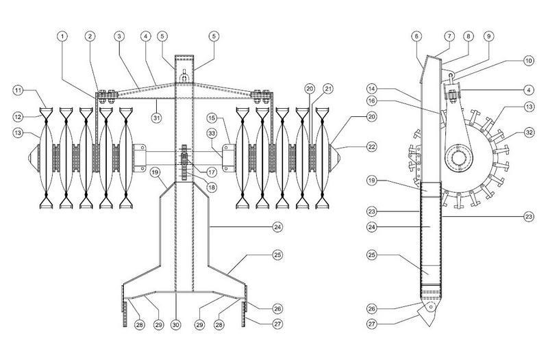 kit déminage PT34 pour char russes  Mineroller01