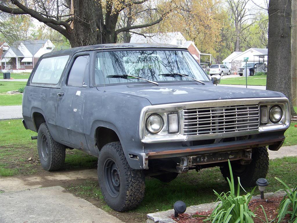 1978 Dodge Ramcharger build - Swamp Donkey 79RC-frontpass