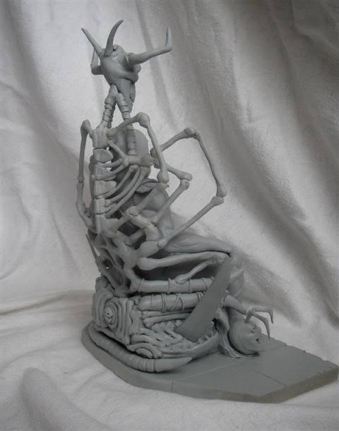 Nimajneb sculpture ! WIP14