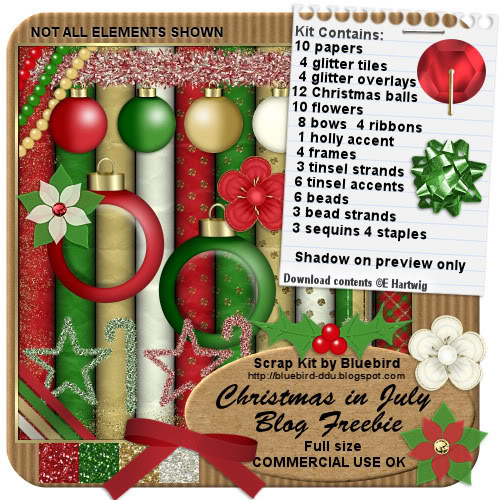 Christmas-in-july-freebie - Part 1 Thru 12 (BlueBirds Blog) BBChristmasInJulyBlogpeview
