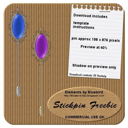 Stickpins by Bluebird BBstickpinfreepreview