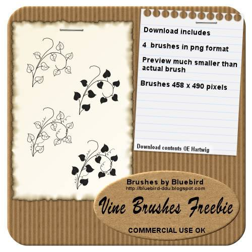 Vine-brushes. BBvinebrushfreepreview