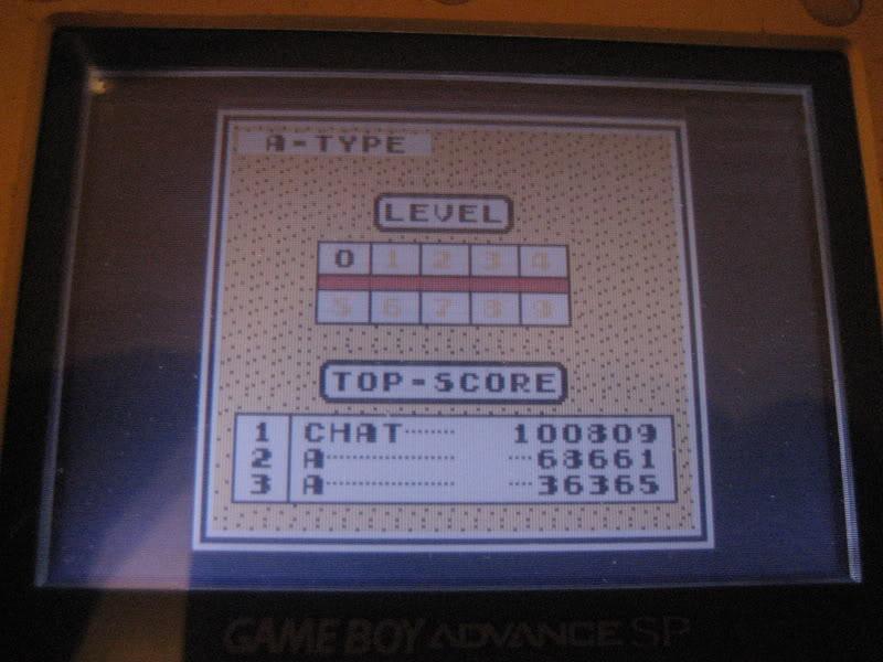 Championnat 2011 de High Score / Manche 1 : Tetris sur Game Boy  Photo914820