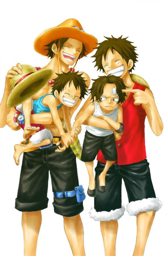 Luffy + Ace LuffyAce1