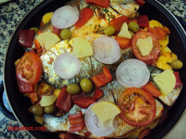 سمك درادا مغربى فى الفرن Imagen016