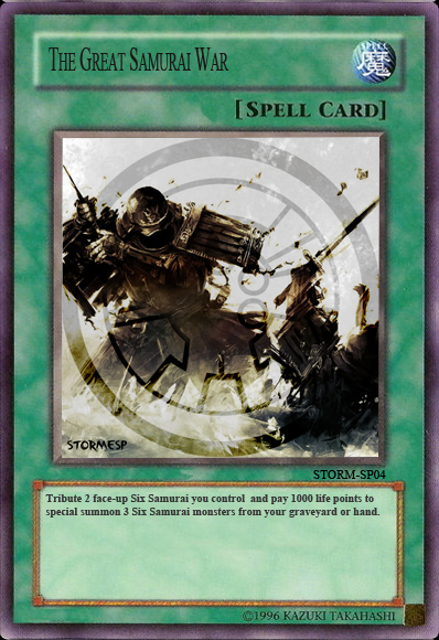 Yugioh cards Fan-art Samuraiwarcard