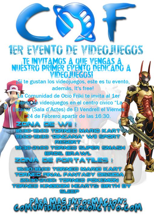 1er Evento de Videojuegos COF (24/2/2012) Cartel341242