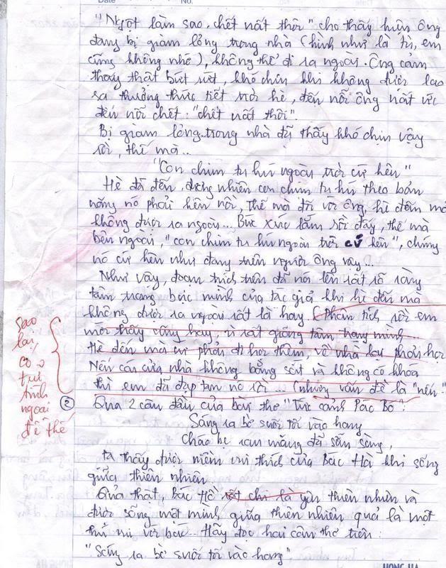Bài làm văn của 1 học sinh lớp 8 Trang21ey9