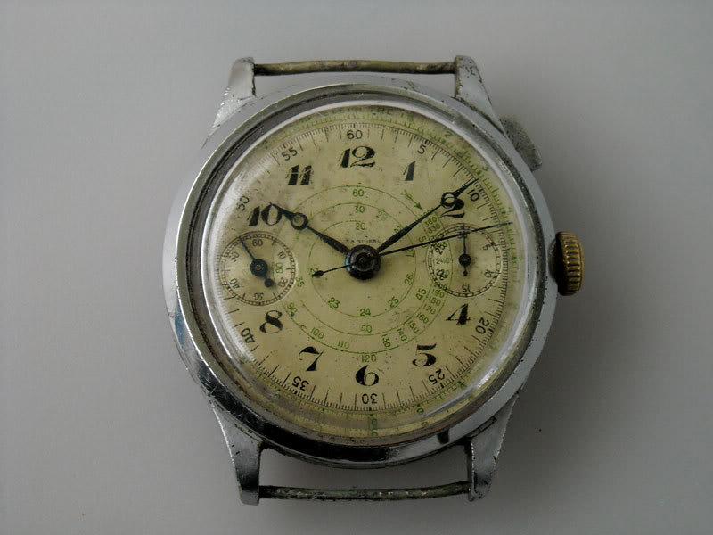 "Monopoussoir Chronographe Hahn-Landeron 15 1/2'"" 06"